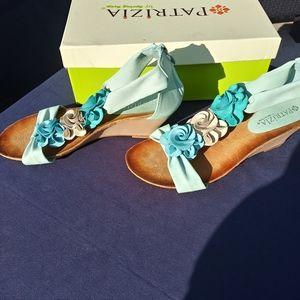 Patrizia Harlequin Wedge Sandals S 8W
